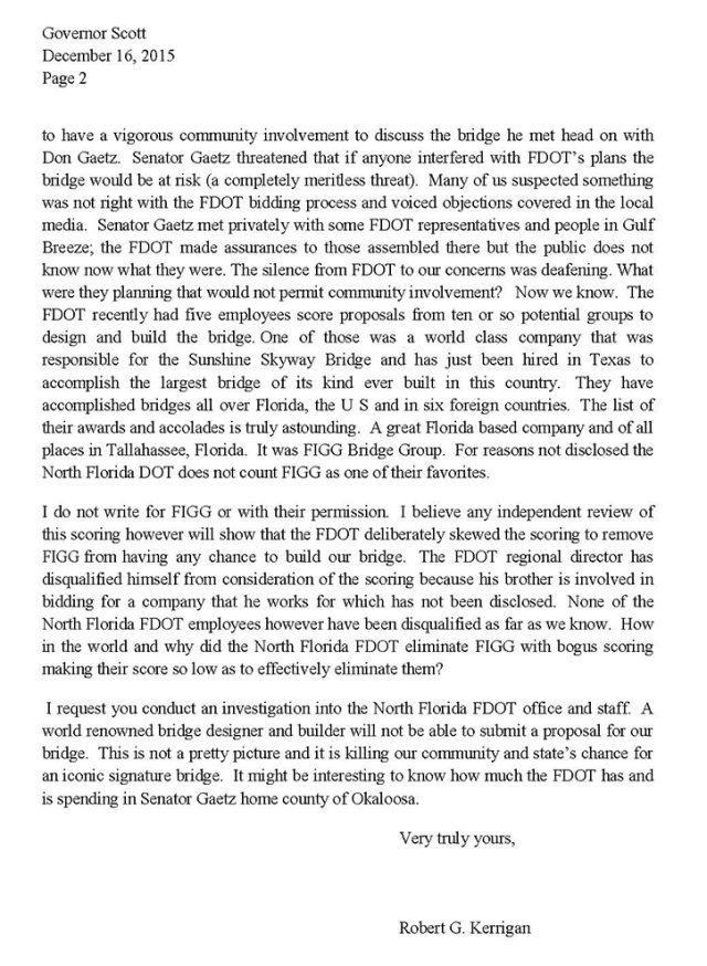 Letter to Gov Scott reBridge p2mod