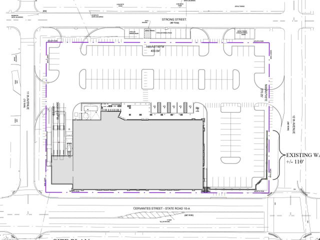 East Hill Publix, overhead view of building & parking • (click to enlarge)