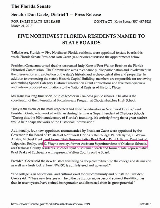 Five Northwest Florida Residents UWF Board
