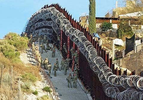 Border fence razor wire 2