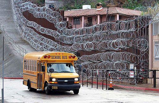 Border fence razor wire